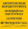 slab serif bold alphabet vector image