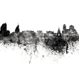 Sofia skyline in black watercolor on white vector image vector image