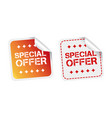 special offer stickers on white background vector image vector image