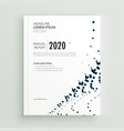stylish minimal dots abstract brochure design vector image vector image