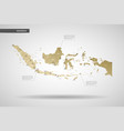 stylized indonesia map vector image