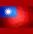 taiwan polygon flag vector image