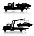TOW TRUCKS SILHOUETTES vector image vector image