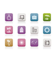 travel and trip icons vector image vector image