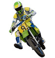 Trials Motorcycle vector image vector image