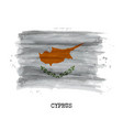 watercolor painting flag of cyprus vector image