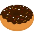Donut icon sweet snack isolated on white vector image