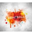 Paintball banner vector image