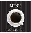Menu for restaurant cafe vector image