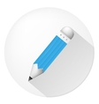 icon for blog Blue pencil vector image