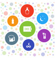 7 full icons vector image vector image