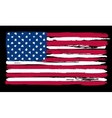 American Flag in painting brush style vector image