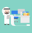 arab businessman upset and stress reading long of vector image vector image