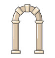 archway ancient icon cartoon style vector image vector image
