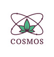 atom with nature science cosmos environmental vector image