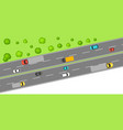 banner with top view of road vector image vector image