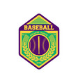 baseball league vintage isolated label vector image vector image