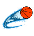 basketball ball with an effect vector image