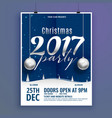 beautiful christmas poster flyer design template vector image vector image