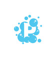 bubble with initial letter p graphic design vector image vector image