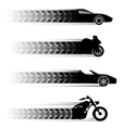 car and motorbike symbols vector image