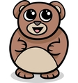 cartoon kawaii bear vector image vector image