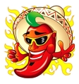 cartoon red hot peper vector image