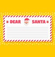 christmas letter concept background flat style vector image vector image