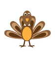comic turkey icon vector image