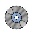 compact cd or dvd disk computer audio video vector image