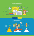concepts for project management and career growth vector image vector image