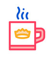 crown drink cup icon outline vector image vector image