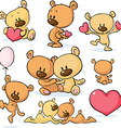 cute valentines teddy bear vector image