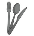 cutlery on white background vector image vector image