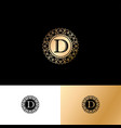 d gold letter monogram gold circle lace ornament vector image vector image