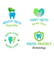 dental stomatology clinic badge icon vector image vector image