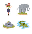 design of zoo and park icon collection of vector image