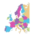 dot style of europe map vector image vector image