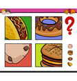 educational activity with food objects vector image vector image