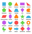 educational geometric shapes set vector image vector image