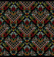 embroidery striped baroque seamless pattern vector image