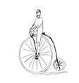 hand drawn bicycle vector image