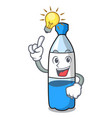 have an idea water bottle mascot cartoon vector image