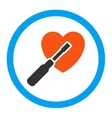 Heart Tuning Rounded Icon vector image vector image