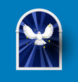 holy spirit come above the window white dove vector image vector image