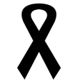 Icon black mourning ribbon vector image