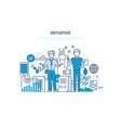 initiative concept active activity enterprise vector image