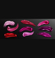 lipstick swatches smudges liquid lip gloss vector image