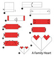 make origami a family heart vector image vector image