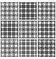 Netting geometric seamless patterns vector image